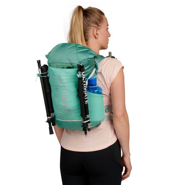 Ultimate Direction FASTPACKHER 20 - 20L Running Backpack for Women - Emerald - Model Back