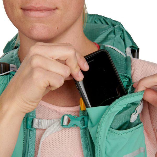 Ultimate Direction FASTPACKHER 20 - 20L Running Backpack for Women - Emerald - Phone Storage
