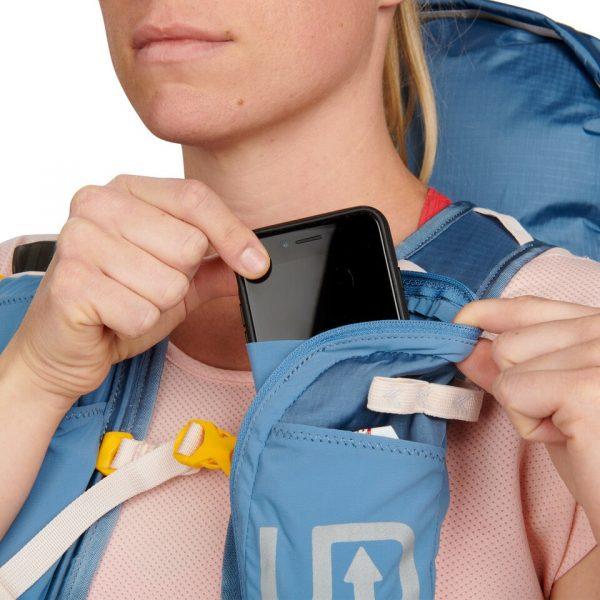 Ultimate Direction FASTPACKHER 30 - 30L Running Backpack for Women - Fog - Phone