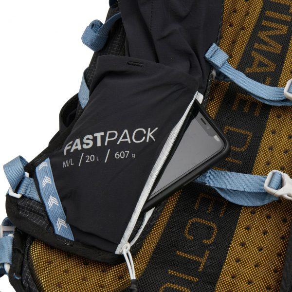 Ultimate Direction FASTPACK 20 - 20L Running Backpack - Black - Phone Storage