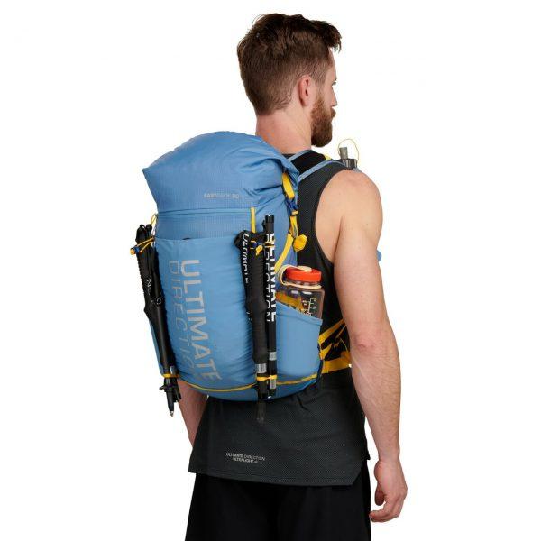 Ultimate Direction FASTPACK 30 - 30L Running Backpack - Fog - Model Back