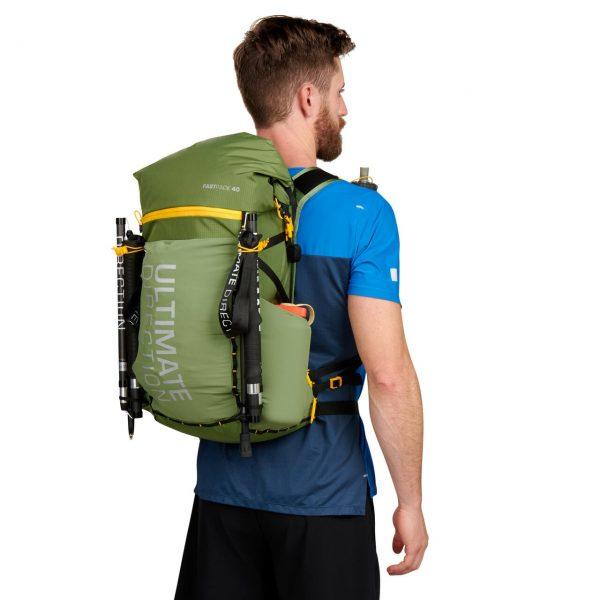 Ultimate Direction FASTPACK 40 - 40L Running Backpack - Spruce - Model Back