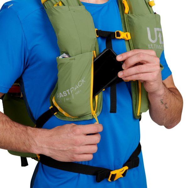 Ultimate Direction FASTPACK 40 - 40L Running Backpack - Spruce - Phone Storage