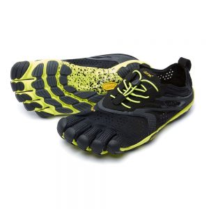 Vibram FiveFingers Mens V-RUN Minimalist Running Shoe - Black/Yellow