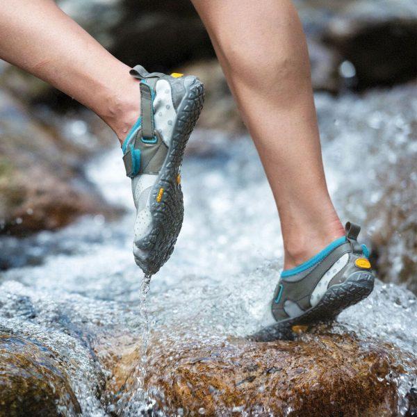 Vibram FiveFingers Mens V-AQUA Minimalist Water Shoe - Grey - Lifestyle