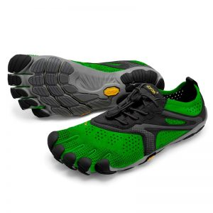 Vibram FiveFingers Mens V-RUN Minimalist Running Shoe - Green/Black