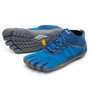 Vibram FiveFingers Mens V-TREK Minimalist Trail Shoe - Blue/Grey