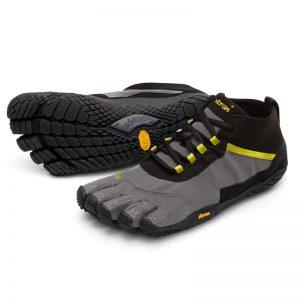 Vibram FiveFingers Mens V-TREK Minimalist Trail Shoe - Black/Grey
