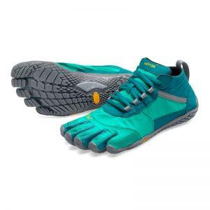 Vibram Fivefingers Womens V-TREK Minimalist Running Shoes - Teal/Grey