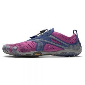 Vibram Fivefingers Womens V-RUN Minimalist Running Shoes - Fuchsia/Blue - Side