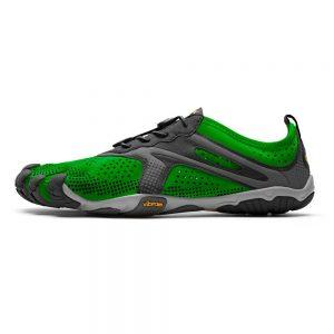 Vibram FiveFingers Mens V-RUN Minimalist Running Shoe - Green/Black - Side