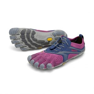 Vibram Fivefingers Womens V-RUN Minimalist Running Shoes - Fuchsia/Blue