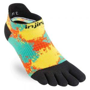Injinji Womens RUN Lightweight No-Show Running Toe Socks (Decode)